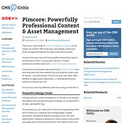 Pimcore: Powerfully Professional Content & Asset Management