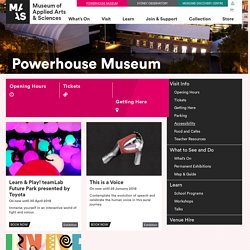 Powerhouse Museum – Museum Of Applied Arts And Sciences