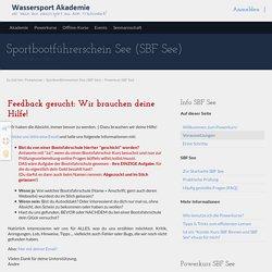Powerkurs SBF See - Kostenlos. Online. Machen - Wassersport Akademie