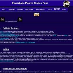 Plasma Globe page!