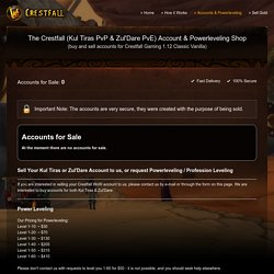 Buy Accounts & Powerleveling for Kul Tiras PvP & Zul'Dare PvE - Crestfall