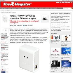 Netgear HDX101 200Mbps powerline Ethernet adaptor | Reg Hardware