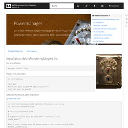 projekte:powermanager:pi_installation_lirc [Willkommen im Internet]
