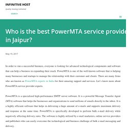 Who is the best PowerMTA service provider in Jaipur?