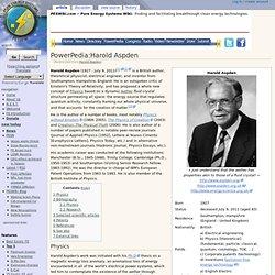 PowerPedia:Harold Aspden