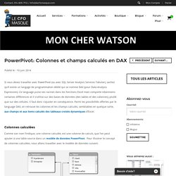 PowerPivot: Colonnes et champs calculés en DAX