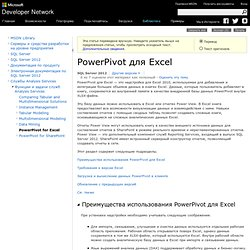 PowerPivot для Excel