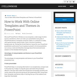 How to Work With Online Templates and Themes in PowerPoint – 1YellowBook