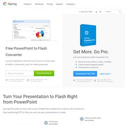 Free PowerPoint to Flash Converter