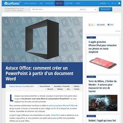 Word tutos astuces internet bureautiques pearltrees - Comment faire un powerpoint open office ...
