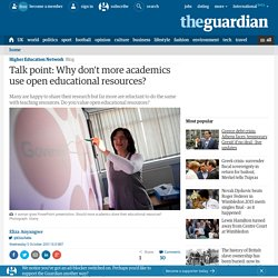 Talk point: hands off my PowerPoint! Why don't more academics use open educational resources?