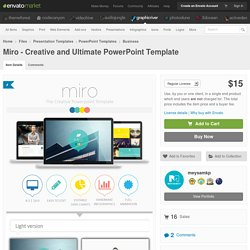 Miro - Creative and Ultimate PowerPoint Template