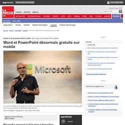 Word et PowerPoint désormais gratuits sur mobile