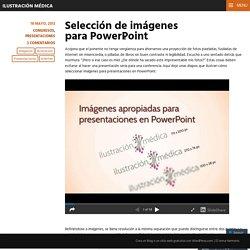Selección de imágenes para PowerPoint
