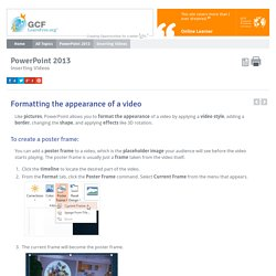 PowerPoint 2013: Inserting Videos