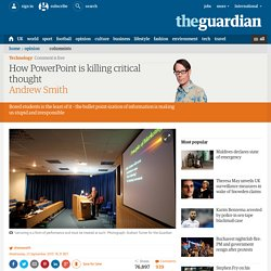 How PowerPoint is killing critical thought