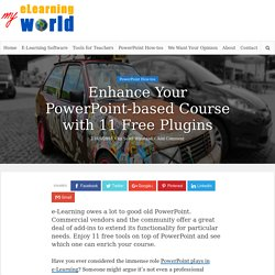 11 Free PowerPoint Add-ins and Plugins for e-Learning Developers