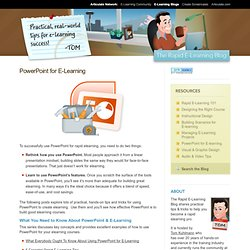 PowerPoint for E-Learning