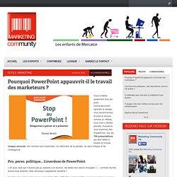 Pourquoi PowerPoint appauvrit-il le travail des marketeurs ?