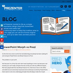 PowerPoint Morph vs Prezi - The Prezenter