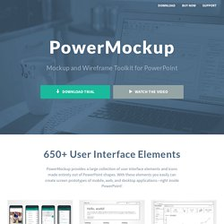 PowerPoint Wireframe and Mockup Tool