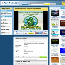 High pressure cleaning PowerPoint presentation