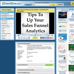 Tips To Up Your Sales Funnel Analytics
