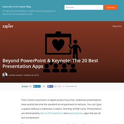 Beyond PowerPoint & Keynote: The 20 Best Presentation Apps