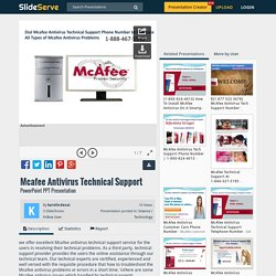 Mcafee Antivirus Technical Support PowerPoint Presentation