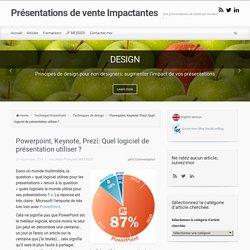 Powerpoint, Keynote, Prezi: Quel logiciel de présentation utiliser ?