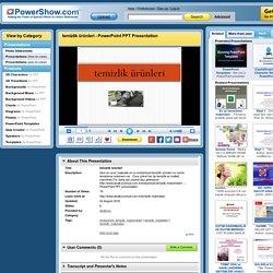 temizlik ürünleri PowerPoint presentation