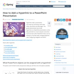 How to Add a Hyperlink to a PowerPoint Presentation