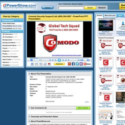 Comodo Security Support.Call:-(800) 294-5907 PowerPoint presentation