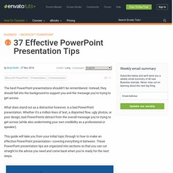 37 Effective PowerPoint Presentation Tips