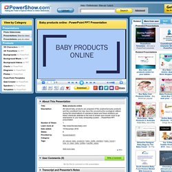 Baby products online PowerPoint presentation