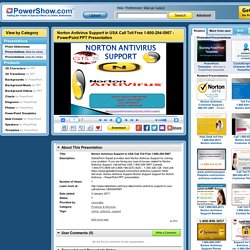 Norton Antivirus Support in USA Call Toll Free 1-800-294-5907 PowerPoint presentation