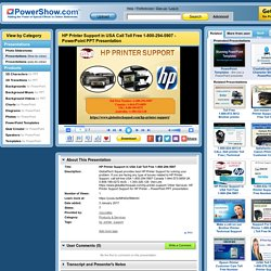 HP Printer Support in USA Call Toll Free 1-800-294-5907 PowerPoint presentation