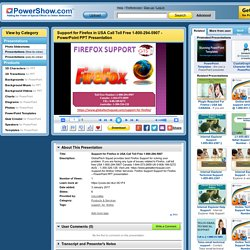 Support for Firefox in USA Call Toll Free 1-800-294-5907 PowerPoint presentation