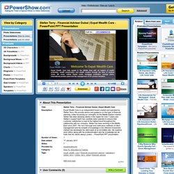 Stefan Terry - Financial Adviser Dubai