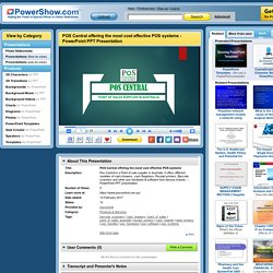 POS Central offering the most cost effective POS systems PowerPoint presentation