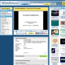 FILOSOFIA MEDIEVAL PowerPoint presentation