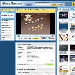 Economics Tuition (2) PowerPoint presentation