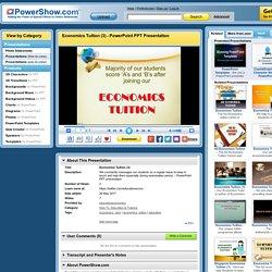 Economics Tuition (3) PowerPoint presentation