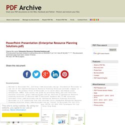 PowerPoint Presentation (Enterprise Resource Planning Solutions.pdf) - PDF Archive