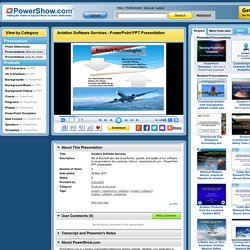 Aviation Software Services