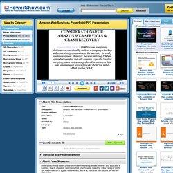 Amazon Web Services PowerPoint presentation