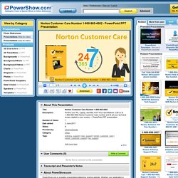 Norton Customer Care Number 1-800-965-4502 PowerPoint presentation