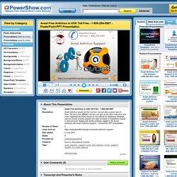 Avast Free Antivirus in USA Toll Free:- 1-800-294-5907 PowerPoint presentation