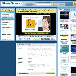 1-800-589-0948 How to Remove Previous Backup Using Norton 360 PowerPoint presentation