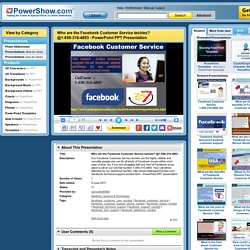 Who are the Facebook Customer Service techies? @1-850-316-4893 PowerPoint presentation
